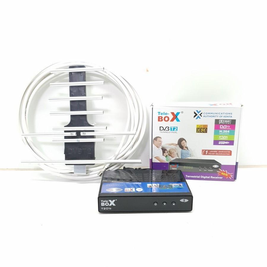 Đầu thu kỹ thuật số DVB T2– Tele Box T201S + Anten DVB T2