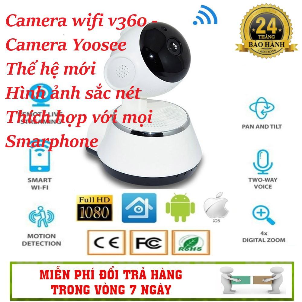 (Bảo hành 24 tháng Lỗi 1 đổi 1 tặng kèm thẻ 64Gb) Camera V380 thế hệ mới yoosee hỗ trợ đàm thoại - video siêu nét với camera chuẩn HD 720p