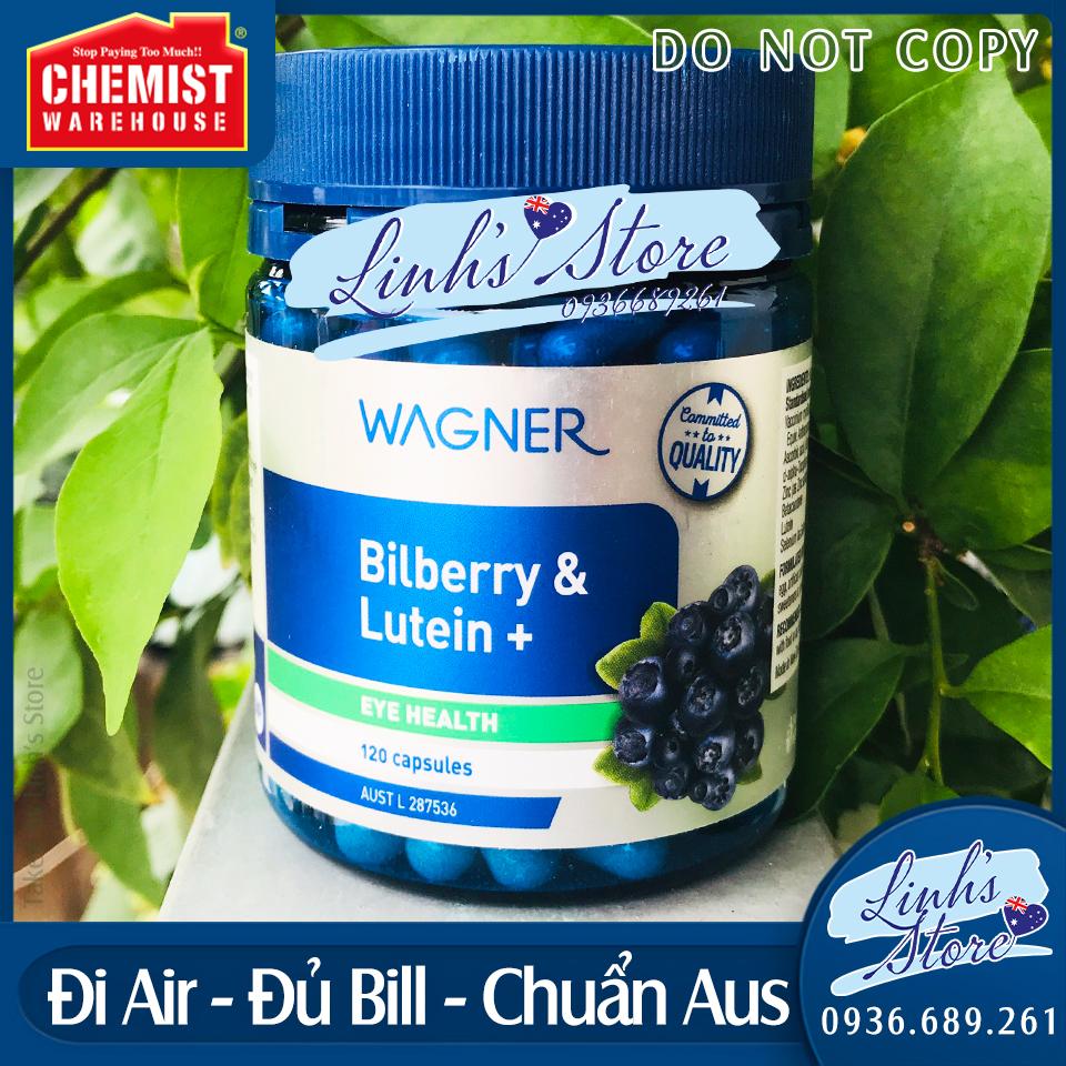 120 viên - Viên uống tăng cường thị lực Wagner Bilberry & Lutein+ Wagner Bilberry & Lutein+ 💙 Chemist Warehouse - Úc