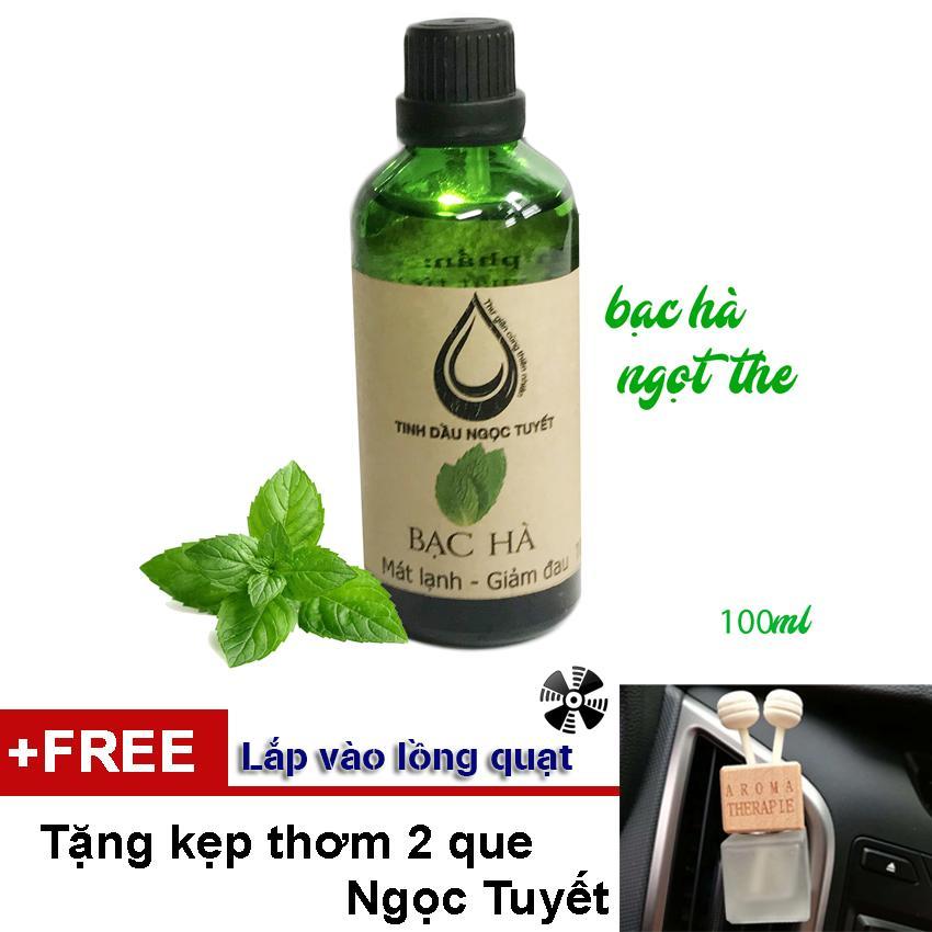 Tinh dầu bạc hà thư giãn, xoa đuổi côn trùng Ngọc Tuyết 100ml TẶNG kẹp thơm tinh dầu tiện dụng