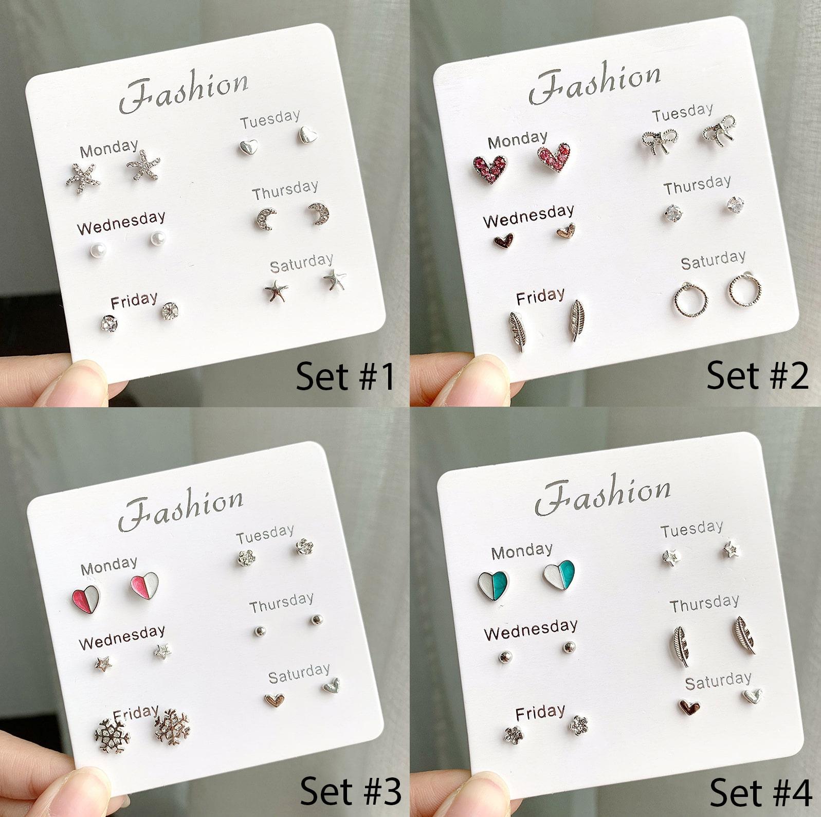 Set Khuyên Tai 6 Món - Khuyên Tai Nữ Hot Nhất B2311 Bảo Ngọc Jewelry 1