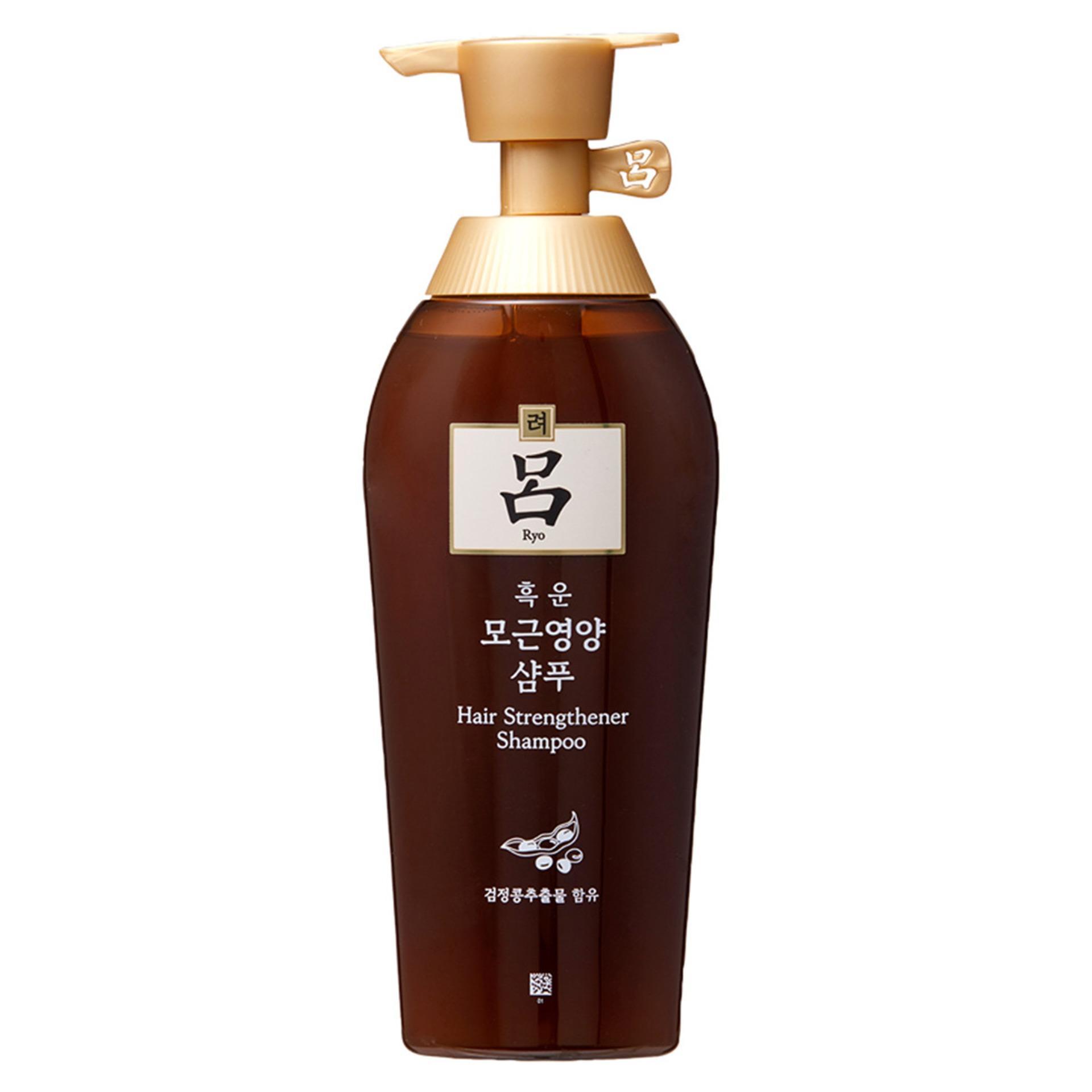 Dầu gội thảo dược phục hồi, chống rụng tóc Ryo Hair Strengthener Shampoo 500ml - Hàn Quốc