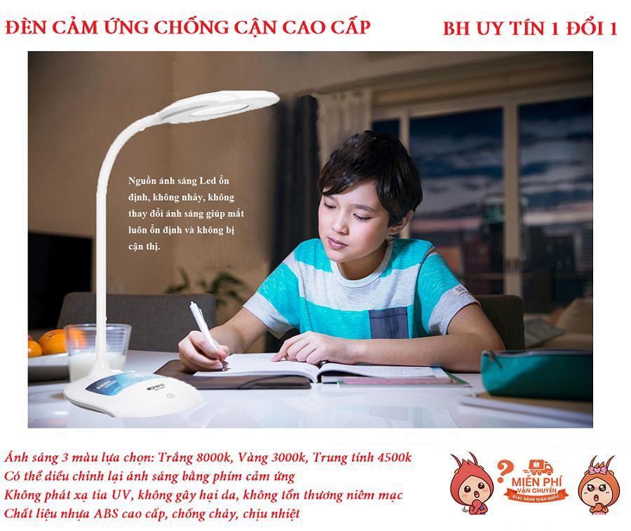 Đèn học chống cận - Đèn led chống cận thị - Đèn học Led cảm ứng chống cận thị tích điện thông minh - Phân phối và bảo hành uy tín bởi HOT TREND SG