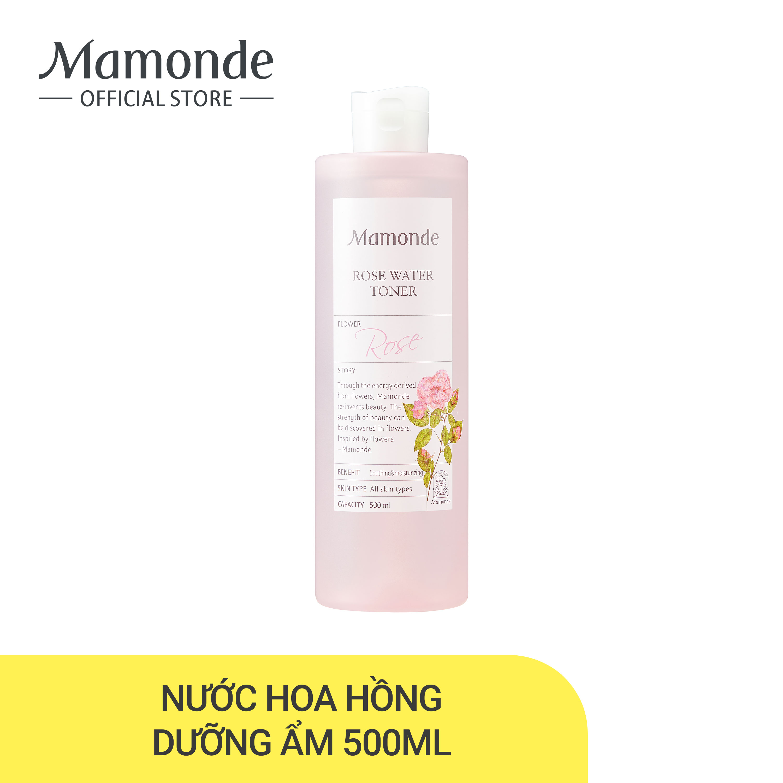Nước hoa hồng cung cấp độ ẩm Mamonde Rose Water Toner 500ml