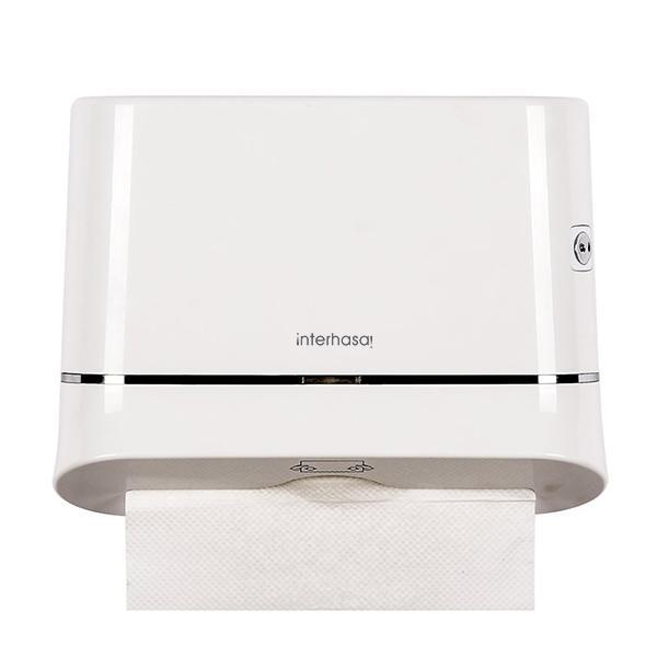 Hình ảnh Hộp đựng giấy lau tay INTERHASA E6002:Dùng cho tất cả các nhà vệ sinh.văn phòng ,khách sạn,khu công cộng,hộ giai đình....dùng cho tất các loại giấy ăn để bàn