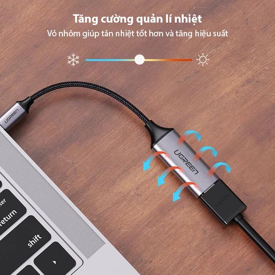 Cáp chuyển USB TYPE C sang HDMI 20cm UGREEN 70444