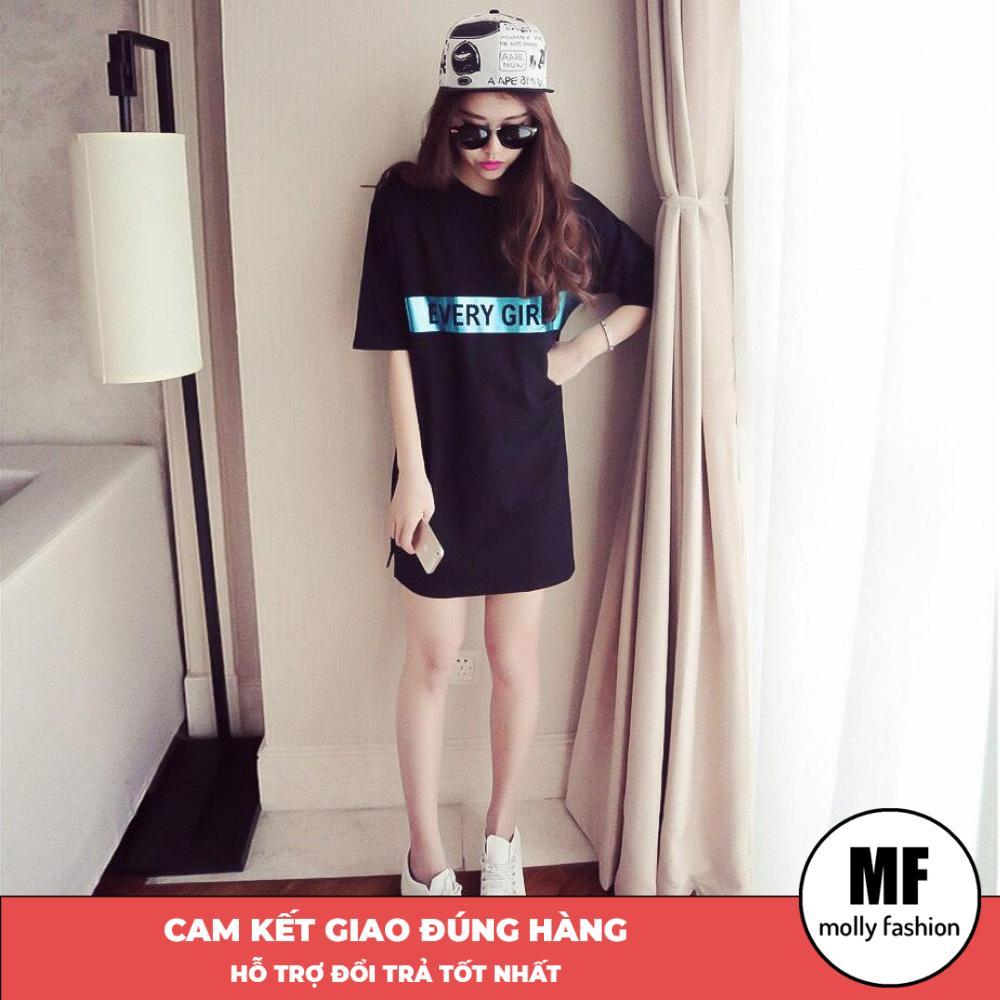 Áo phông, áo thun nữ form rộng tay lỡ Giấu Quần Every Girl Freesize 70kg Molly Fashion ML127