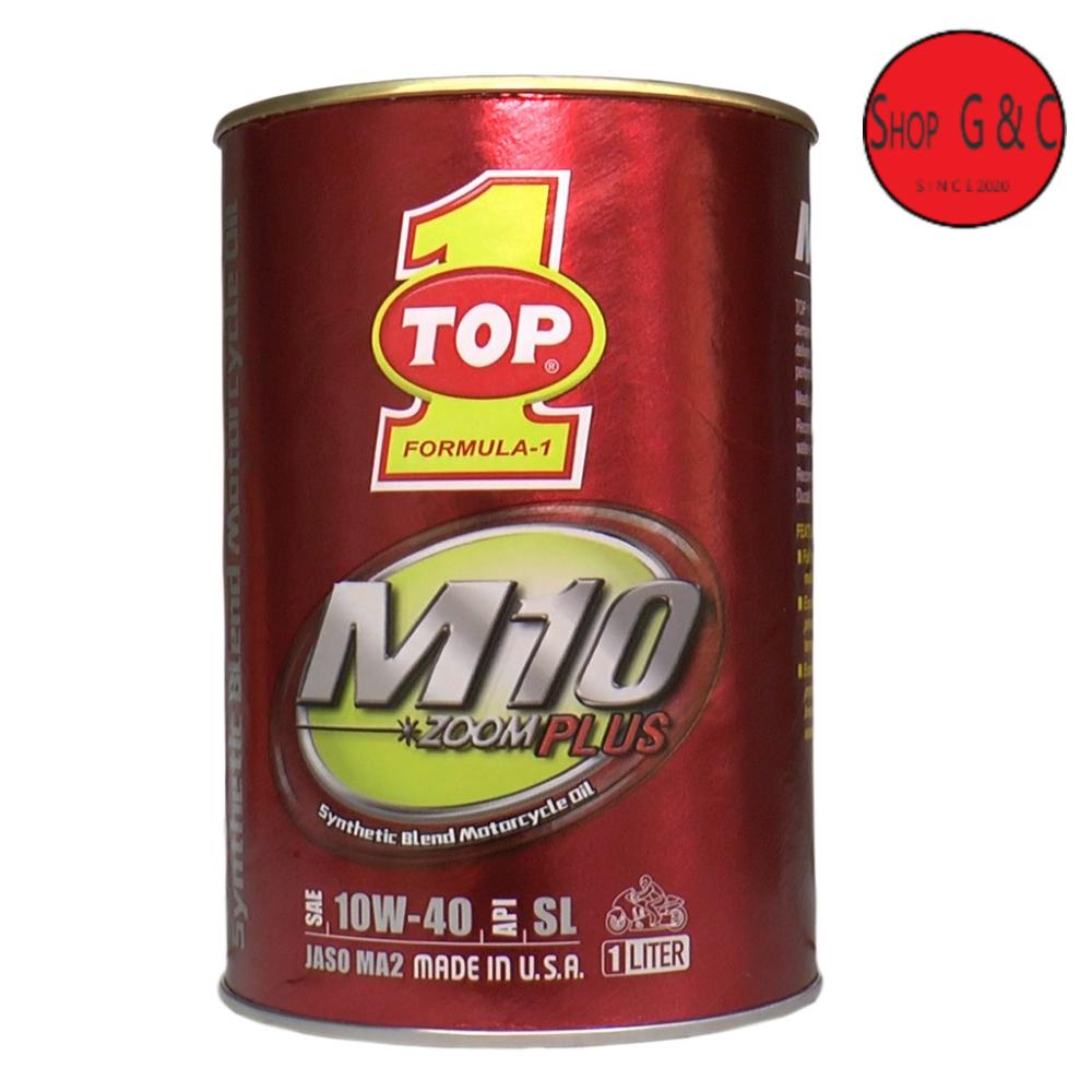 Nhớt Top 1 Zoom Plus M10 10w40  xe côn tay NHẬP KHẨU  MỸ 1L