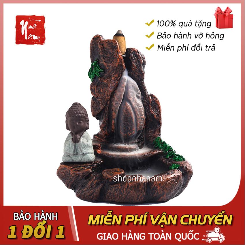 Hình ảnh Thác khói trầm hương Sư tiểu tọa thiền, Tặng 3 nụ Trầm Hương - Phong thủy Nhã Nam