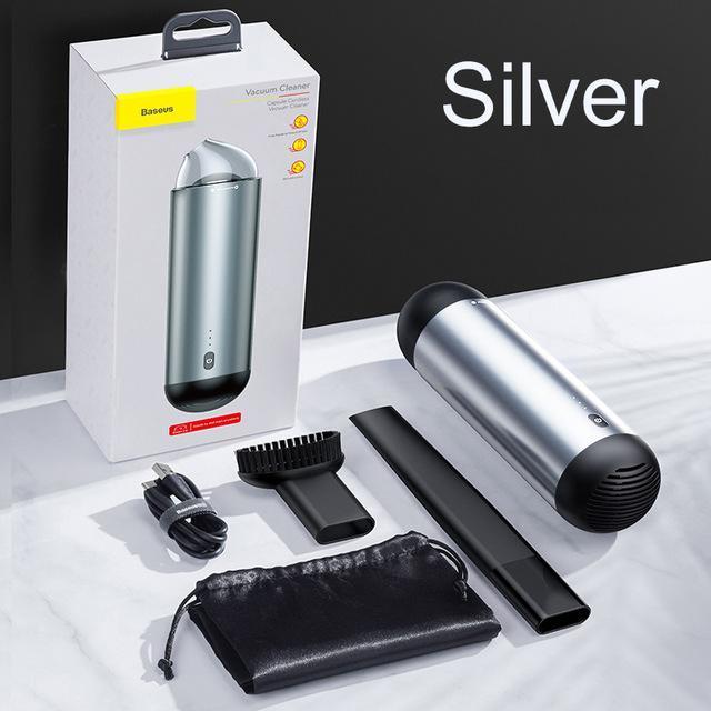 Máy hút bụi cầm tay tích điện mini không dây Baseus Vacuum Clean lực hút 4000PA dễ dàng làm sạch bụi trong xe hơi, bàn phím máy tính hay ghế sofa