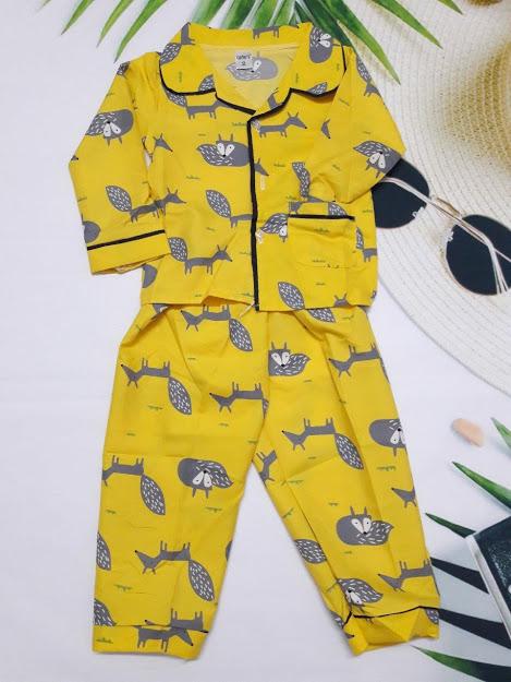 Pijama họa tiết ngộ nghĩnh, chất thô hàn cho bé trai và bé gái từ 13kg - 33kg, Bộ đồ ngủ trẻ em, Pijama bé gái, Pijama bé trai, Pijama trẻ em, Đồ ngủ bé trai, Đồ ngủ bé gái, Đồ mặc nhà cho bé, Pijama tay dài, Pijama size đại