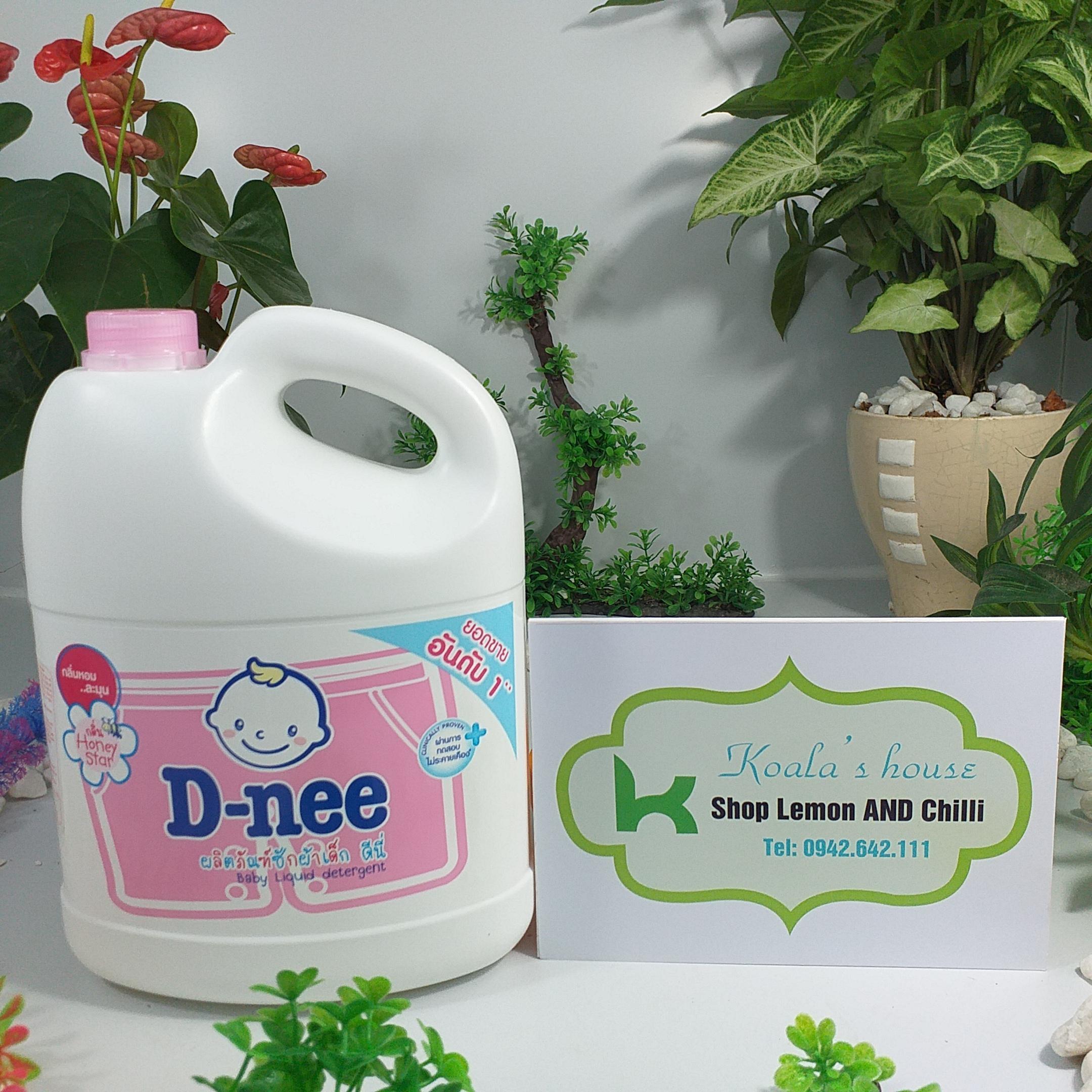 Nước giặt Dnee sản xuất tại Thái Lan, dung tích 3000ml ( màu hồng - tem Đại Thịnh)