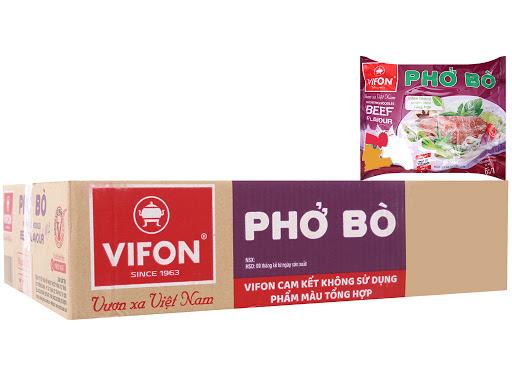 Thùng phở Bò ăn liền Vifon 30 gói