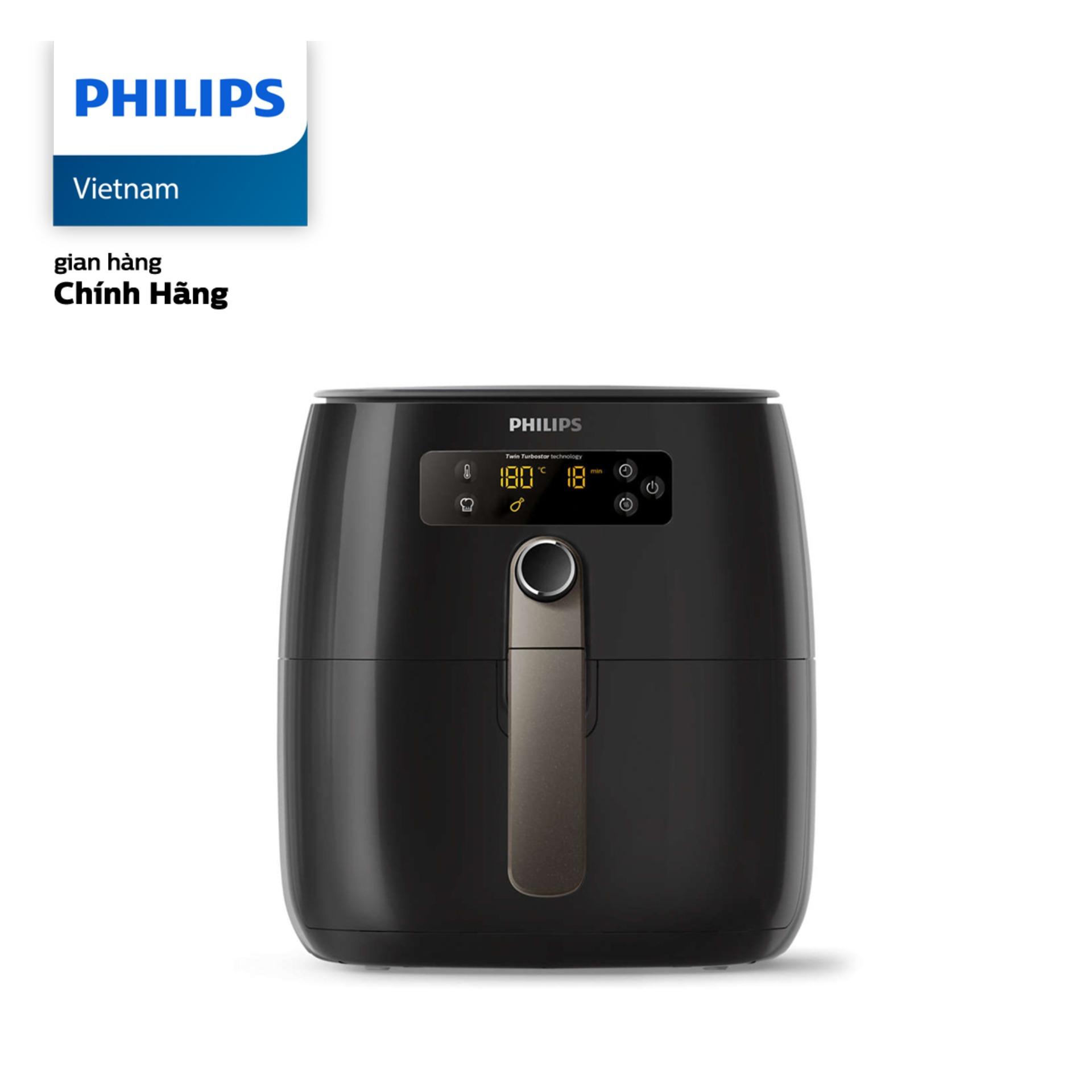 Nồi chiên không dầu Philips HD9745 (Đen) 0.8kg 1500W - Hàng phân phối chính hãng
