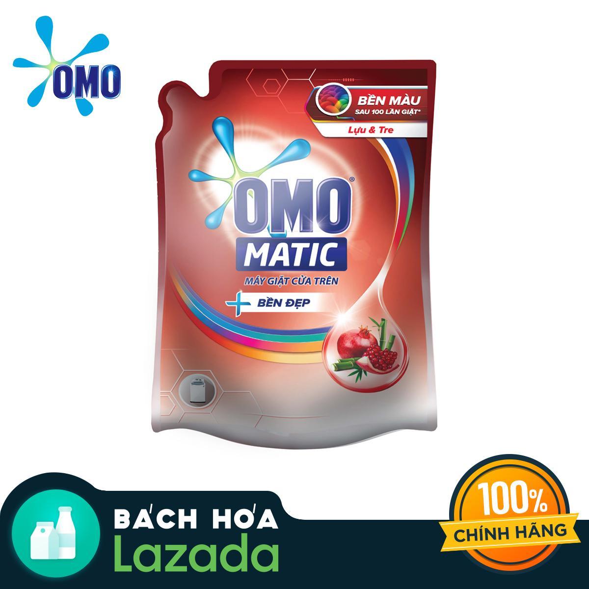 Túi Nước giặt OMO Matic Bền Đẹp Cửa Trên Hương Lựu và Tre 2.3kg