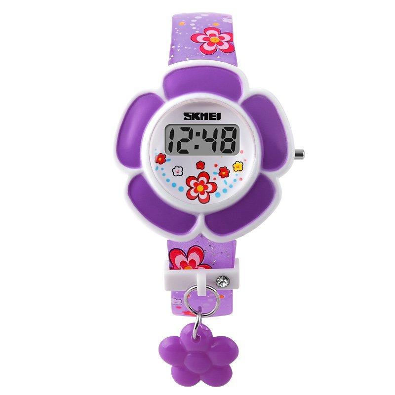 Đồng hồ bé gái dây nhựa Skmei 1144 (Tím) bán chạy
