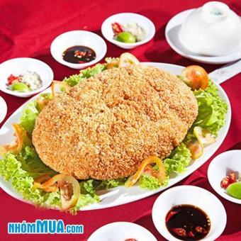 Gà ta bó xôi nguyên con 1.3kg chiên phồng - NH Sài Gòn Nhỏ
