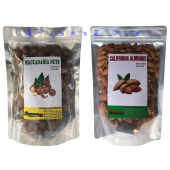 Bộ 2 túi hạt maca nứt vỏ 1kg+ hạt hạnh nhân tách vỏ tự nhiên 1kg