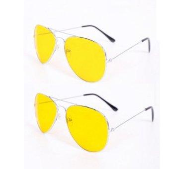 Bộ 2 kính nhìn xuyên đêm chống lóa mắt (Vàng)