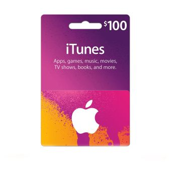 Apple itunes gift card 100$