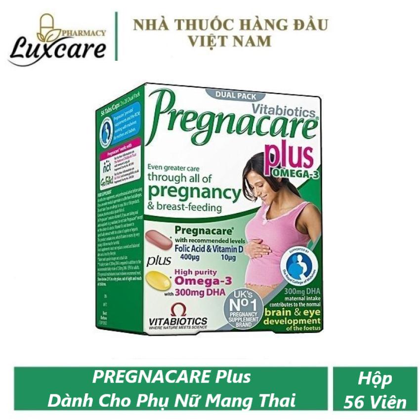 [HCM]Viên Uống Vitabiotics Pregnacare Plus - Bổ Sung Vitamin - Khoáng Chất Thiết Yếu Trước và Trong Khi Mang Thai - Hộp 56 Viên  - Luxcare