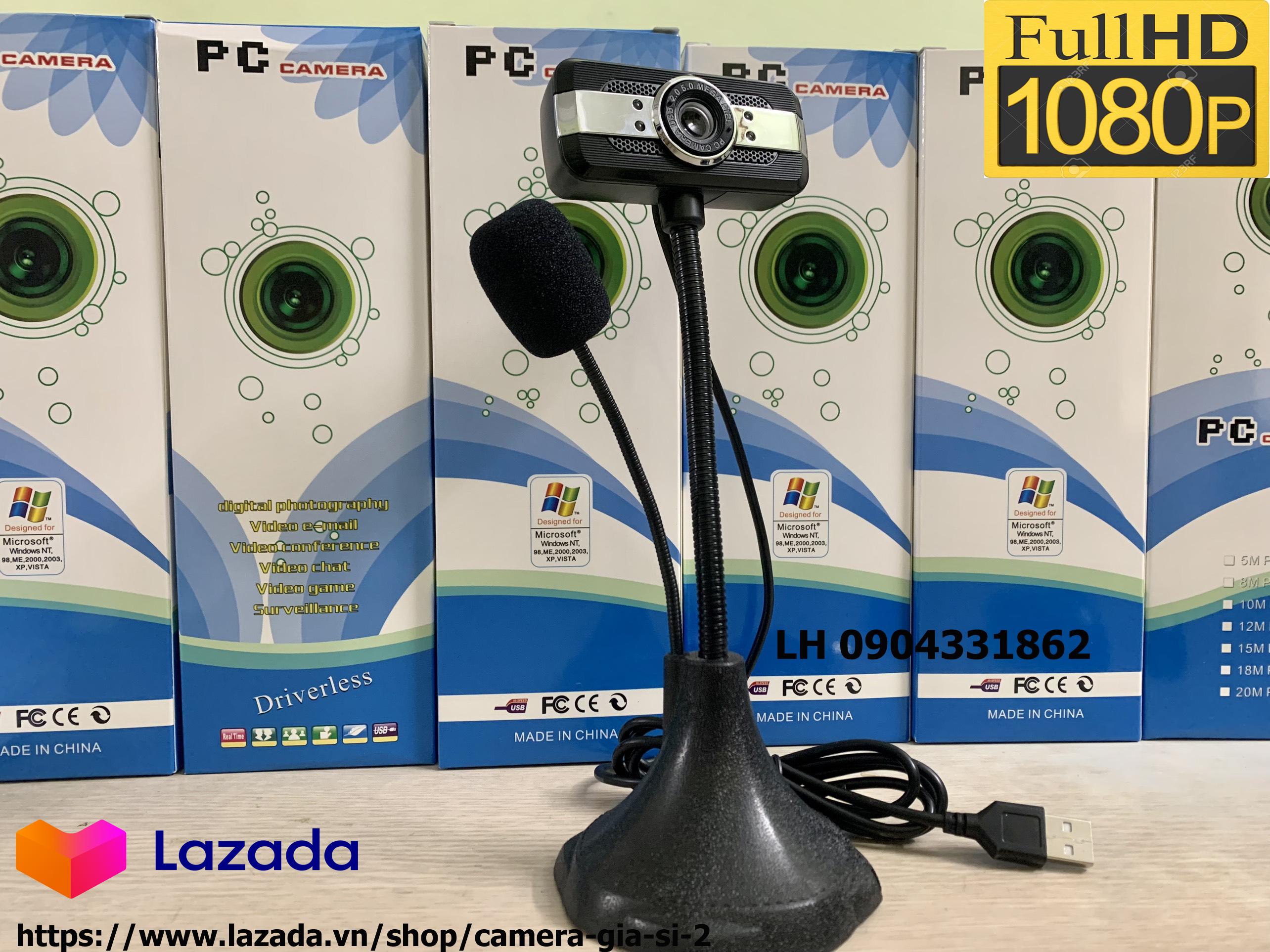 camera webcam Tích hợp Micro dùng cho học trực tuyến, họp online chất lượng hình ảnh HD720P và FHD 1080P có đèn LED trợ sáng . kết nối máy tính quan cổng usb . máy tính tự nhận cắm làm chạy không cần cài đặt 5