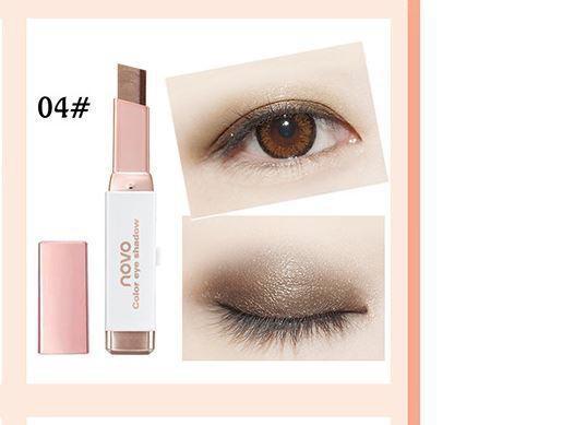 Phấn màu mắt nhũ 2 line dạng bút NoVo - XỊN