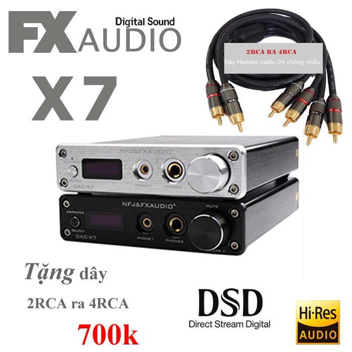 FX Audio X7 DAC nghe nhạc lossless/DSD - Tặng dây Monster 2RCA ra 4RCA