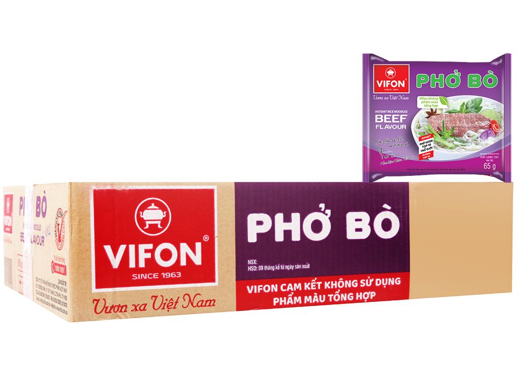 Phở bò Vifon - phở gà vifon - thùng 30 gói × 65gram