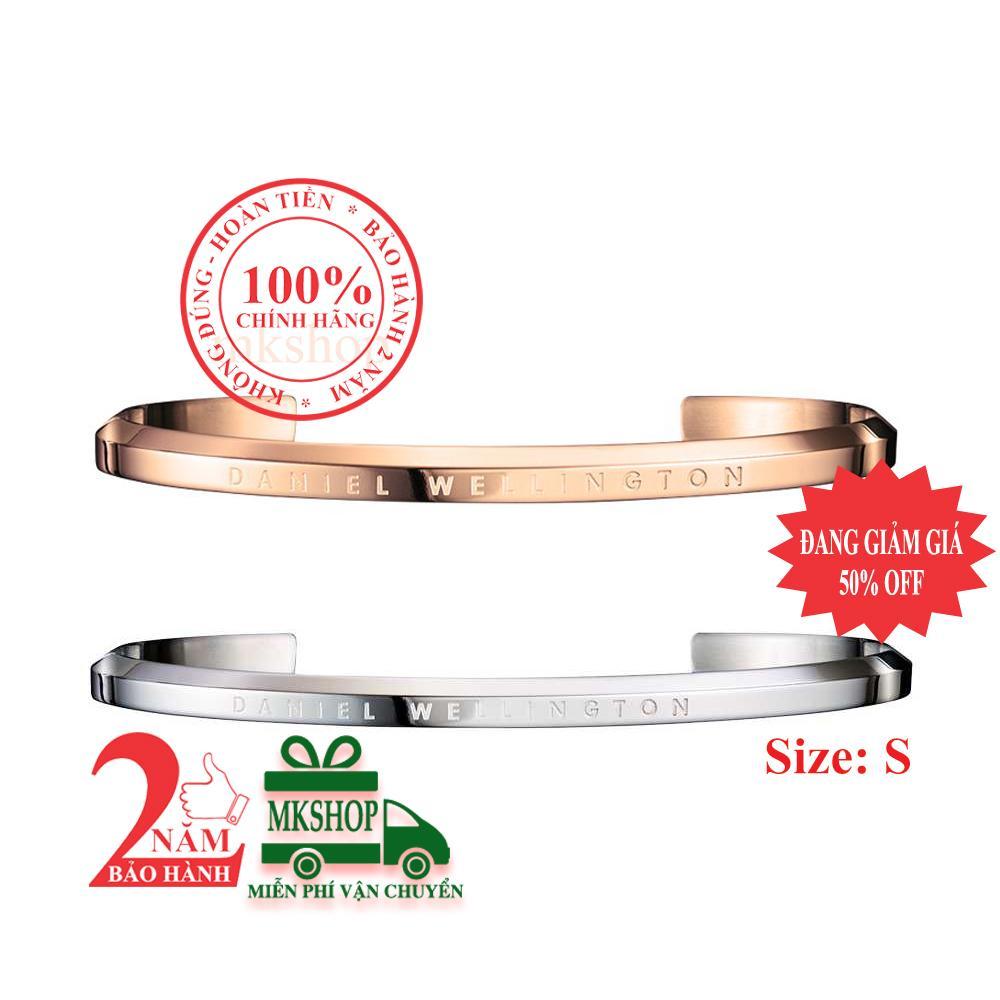 Combo 2 vòng tay Daniel Welington Classic, màu Vàng hồng (Rose Gold) + màu Bạc (Silver), size S
