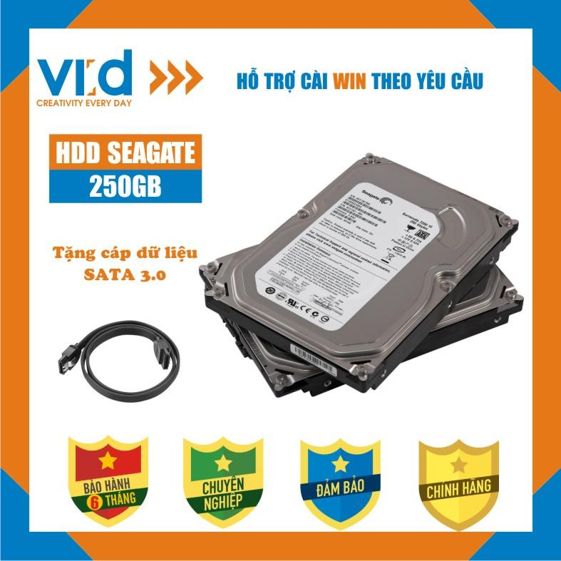 Ổ cứng HDD 250GB Seagate - Tặng cáp sata 3.0 - Hàng tháo máy đồng bộ - Bảo hành 6 tháng