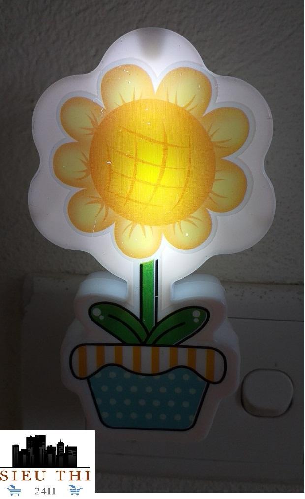 Đèn Ngủ Led Cảm Ứng Hình Hoa Hướng Dương ( Màu ngẫu nhiên) đèn tiết kiệm điện đèn cảm ứng đèn cho bé yêu