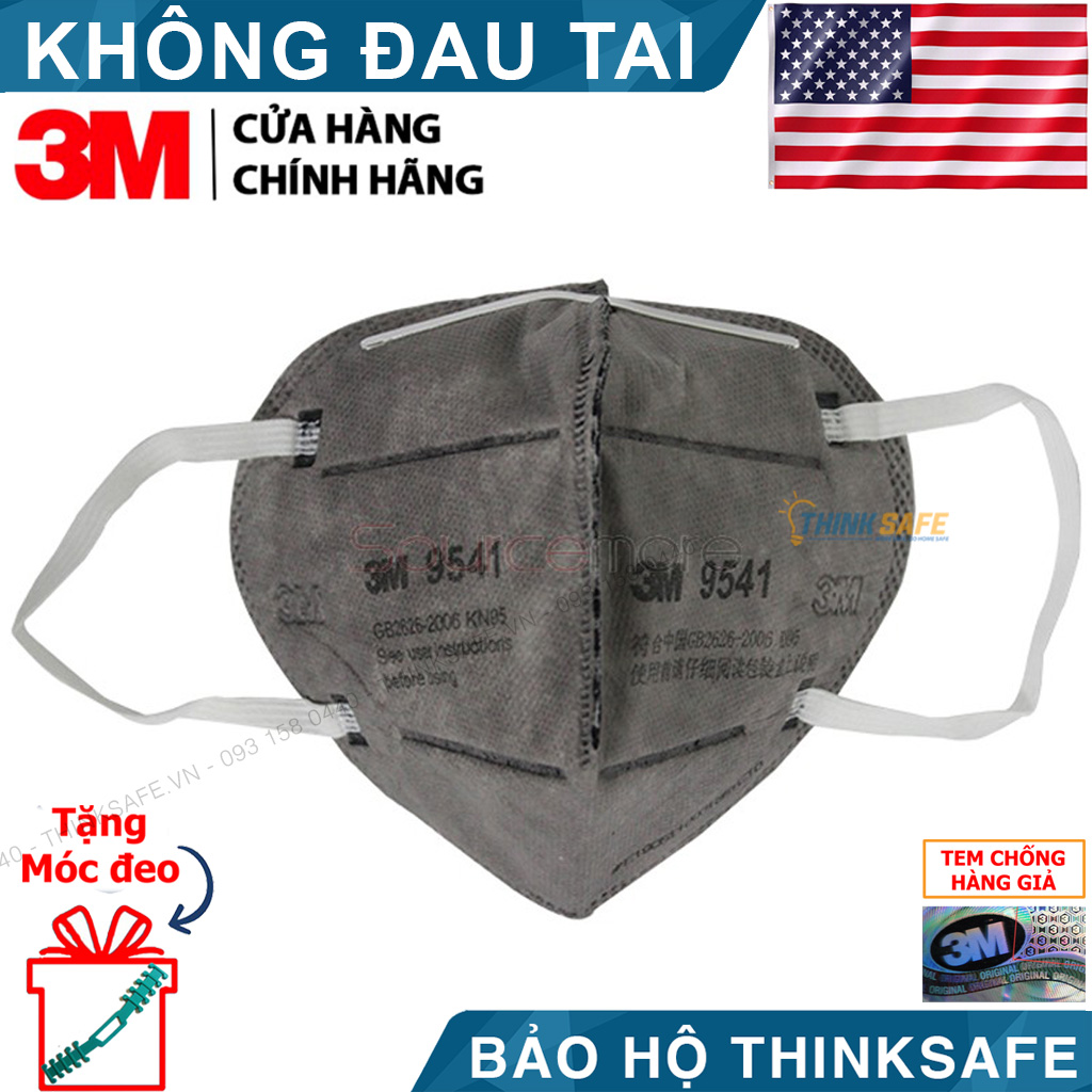 Khẩu trang KN95 chống bụi bảo vệ hô hấp 3M 9541 - Khẩu trang 3M 9541 phòng dịch bảo vệ hô hấp