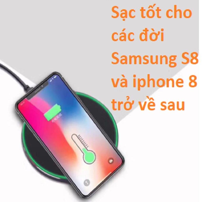 [HCM]Sạc cảm ứng - Sạc không dây - Sạc cảm ứng không dây - Sạc điện thoại cảm ứng - Sạc pin cảm ứng - Sạc không dây samsung iphone - Đế sạc không dây - Tiếp xúc là sạc