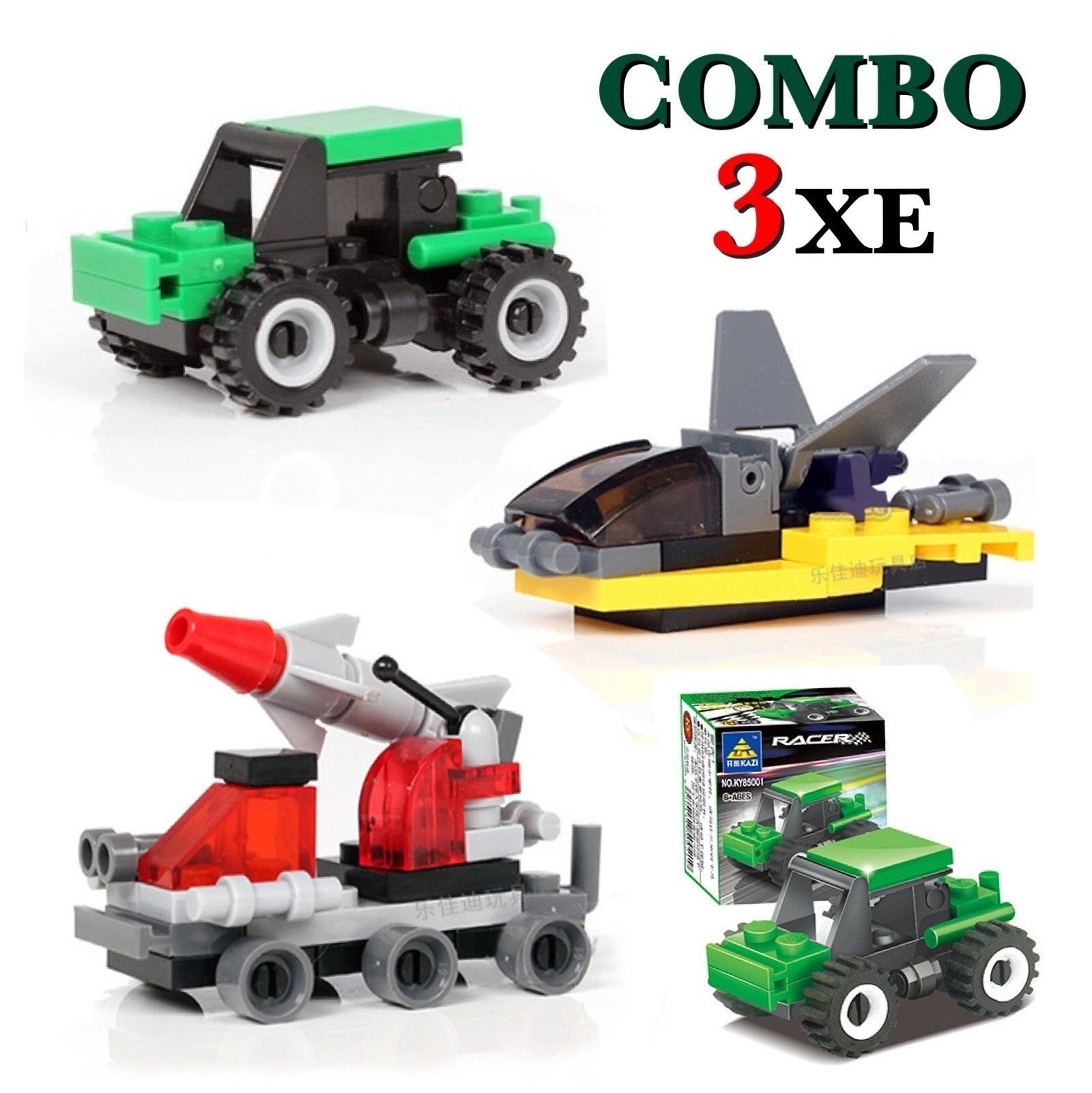 Combo đồ chơi trẻ em 3 xe ô tô xếp hình LEGO CITY từ 27 đến 32 chi tiết nhựa ABS cao cấp cho bé từ 4 tuổi trở lên phát triển trí tuệ và sáng tạo 1