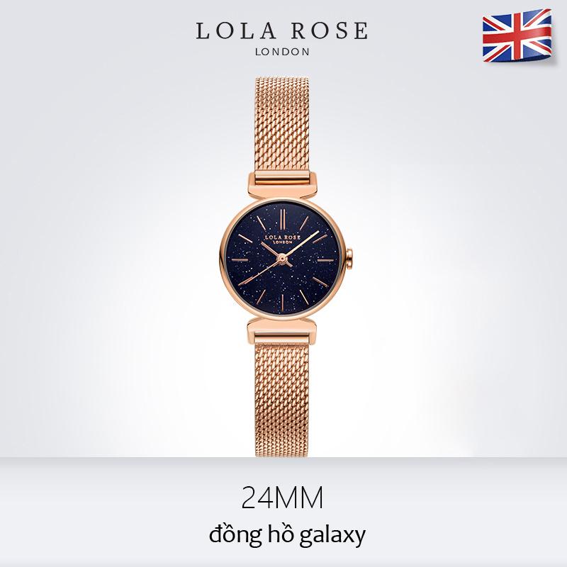 Hình ảnh Đồng hồ nữ chống nước , đồng hồ nữ mặt tròn nhỏ Lola Rose đá bảo thạch galaxy lấp lánh cao cấp, dây đeo kim loại chống gỉ, phù hợp với cô nàng công sở thanh lịch Full Box tặng vòng tay, bảo hành 2 năm LR4048BOX