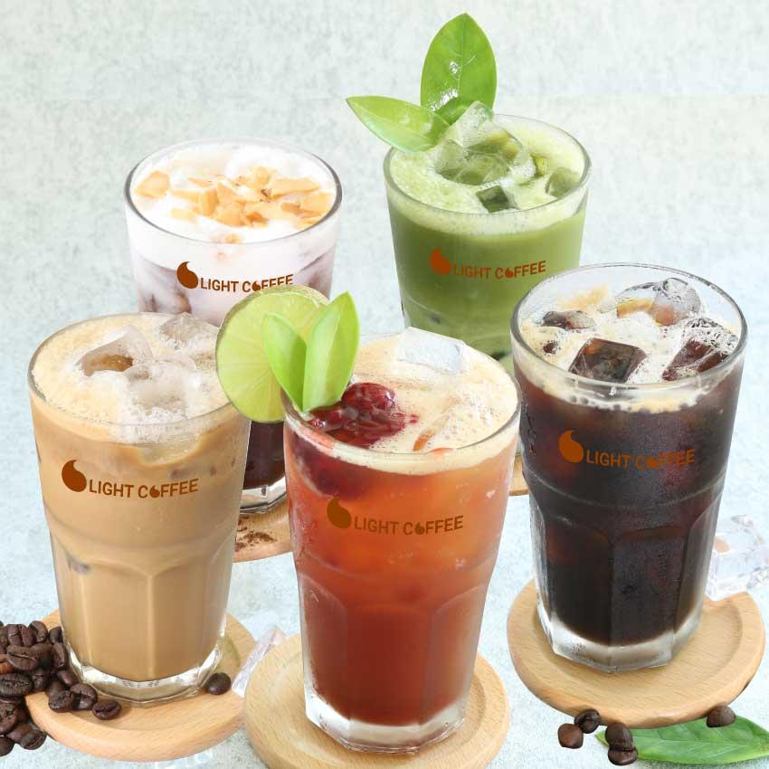 HCM - Evoucher Giảm 20% toàn menu thức uống, áp dụng tại Light Coffee Official Store
