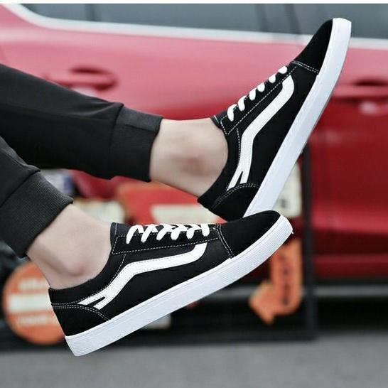 ✅ [ SNEAKER HOT ] Giày SNEAKER VẢI DA LỘN G5 ( ĐEN kẻ TRẮNG ) Thể Thao/Giày Nam hiện đại , cá tính, đẹp độc lạ, chất thoáng mát, phong cách Hàn Quốc mẫu mới nhất - TỔNG KHO GIẦY NHẬP KHẨU