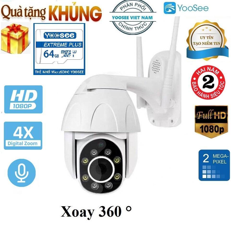 ( Tặng kèm thẻ SD YOOSEE 64GB XỊN ) Camera ip wifi ngoài trời-trong nhà ,camera phát hiện kẻ đột nhập,PTZ 2.0 Mpx- 1920 x1080, 360 độ,ban đêm có màu ,Ghi âm, đàm thoại song phương, lưu trữ dữ liệu