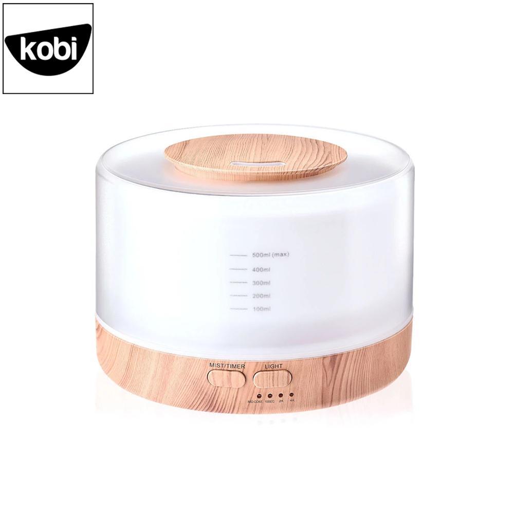 Máy khuếch tán tinh dầu siêu âm Ban Mai Kobi cao cấp giúp phun sương, tạo ẩm, làm thơm phòng ngủ, phòng khách, dung tích 500ml