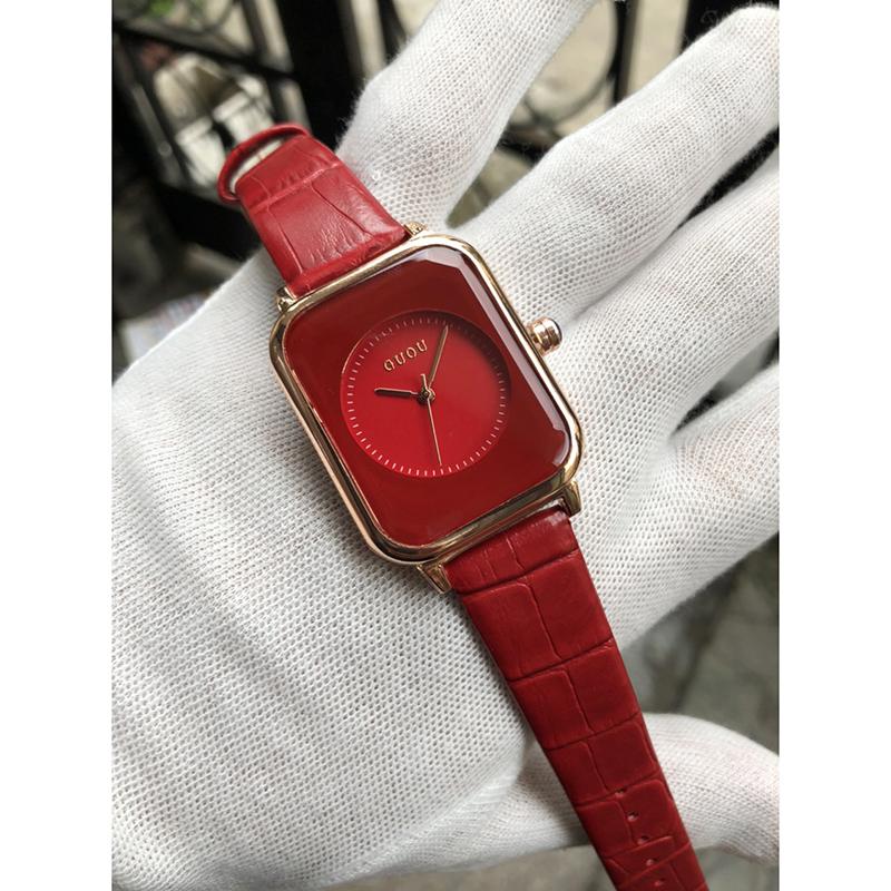 Đồng hồ Nữ GUOU Dây Mềm Mại đeo rất êm tay, Chống Nước Tốt, Bảo Hành Máy 12 Tháng Toàn Quốc 23