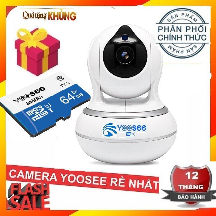 (BH 24 tháng cả máy lẫn thẻ,TẶNG KÈM THẺ NHỚ 64GB YOOSEE),Camera yoosee AI 2019,camera wifi,full HD,ghi âm giọng nói,lưu trữ video,cảm biến chuyển động