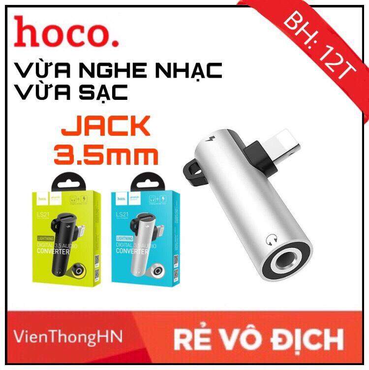 Cáp Chuyển Đổi Hoco ls21 2 Trong 1 Vừa Sạc Vừa Cắm Tai Nghe Cổng Lightning Và Jack 3.5 Dành Cho IPHONE