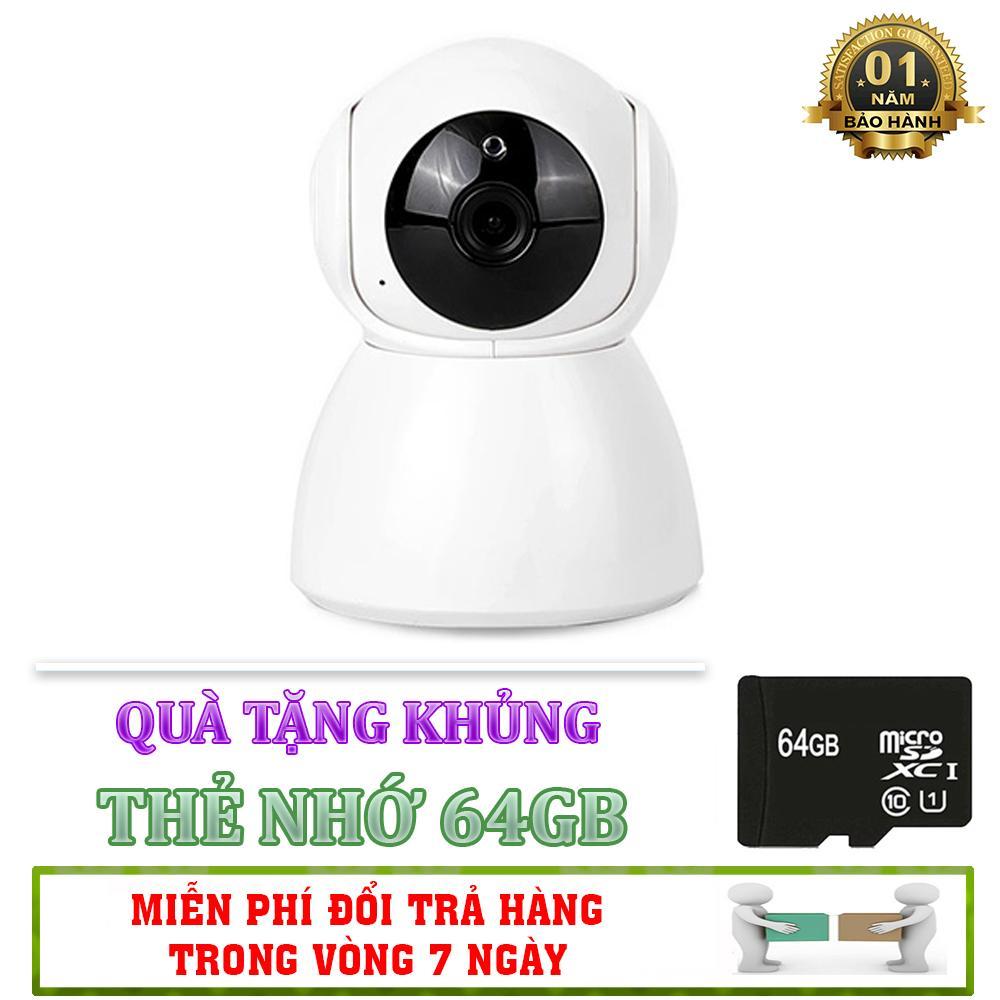 [Tặng thẻ nhớ 64GB] Camera Kết Nối Wifi V380 Q10 - Hỗ Trợ Đàm Thoại 2 Chiều - Lưu Trữ Tối Đa 10 Ngày