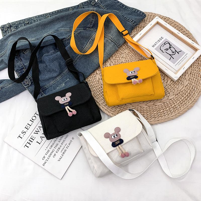 Hình ảnh Túi Xách Nữ, Túi Đeo Chéo Nữ Vải Canvas Dày Dặn Đi Chơi Xinh Xắn Thời Trang Hàn Quốc HA8811