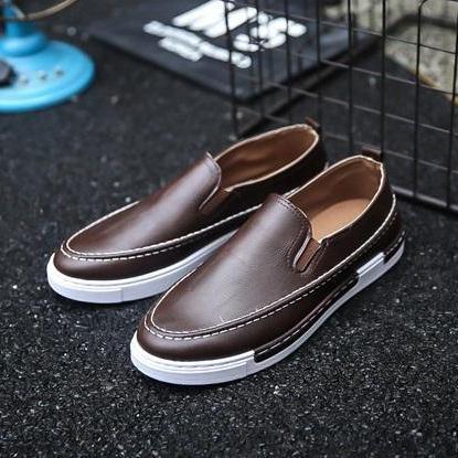 ✅ [ SLIP ON HOT ] Giày SLIP ON DA G17 ( NÂU) Thể Thao/Giày Nam hiện đại , cá tính, đẹp độc lạ, chất thoáng mát, phong cách Hàn Quốc mẫu mới nhất 2019 - TỔNG KHO GIẦY NHẬP KHẨU