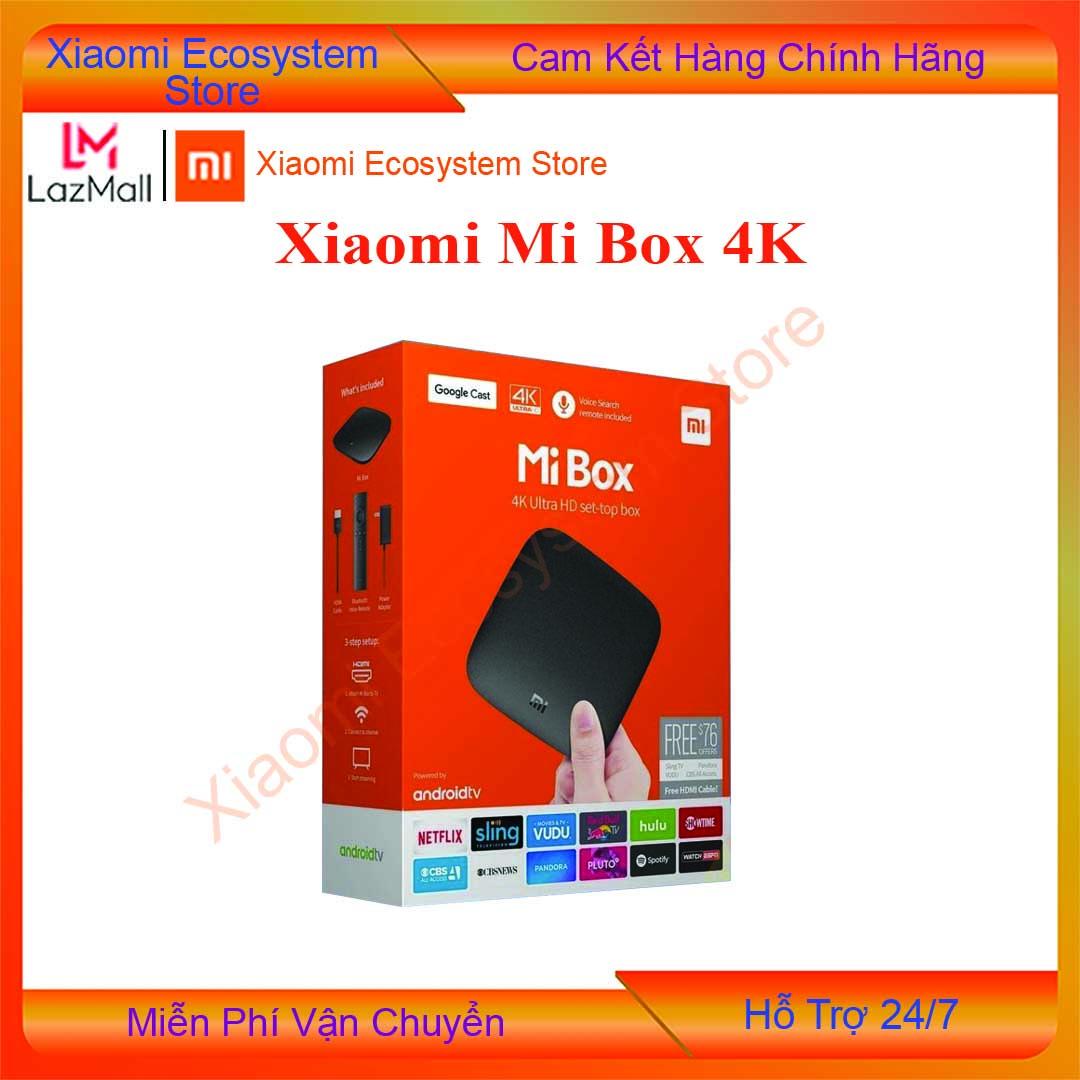 [Tặng MGG 8%] [BẢN Q TẾ] Xiaomi Mi Box 4K Global   đầu Android TV Box   tivi box, mibox   tv box xiaomi, Xiaomi mibox    Hỗ trợ tìm kiếm bằng giọng nói, có kèm điều khiển Kết nối Wifi  Bluetooth 4.2   XIAOMI ECOSYSTEM STORE
