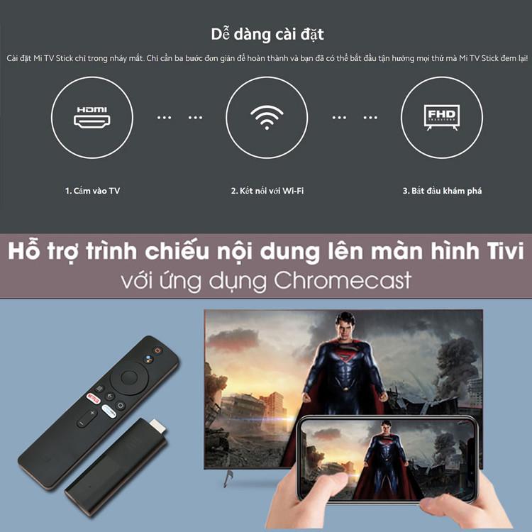 🔝 Xiaomi Mi TV Stick Android Tv box Quốc Tế tìm kiếm giọng nói Tiếng Việt - Hàng Chính Hãng ▄▀▄▀▄▀
