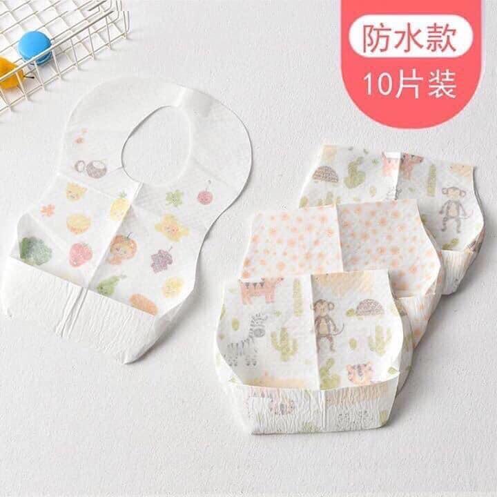 Set 20 yếm ăn giấy chống thấm dùng 1 lần cho bé | Lazada.vn