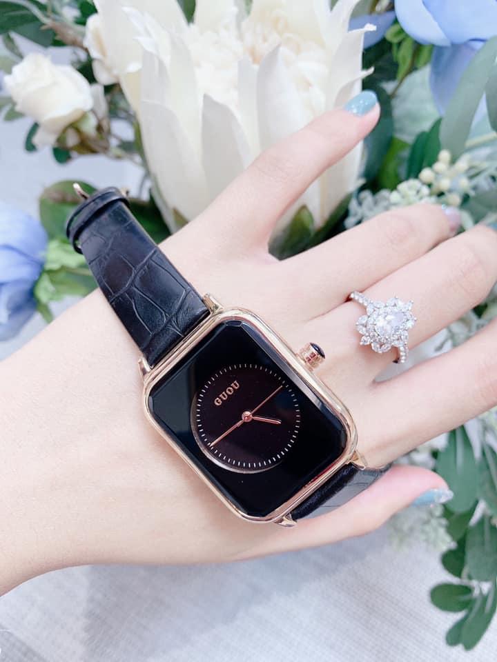 Đồng hồ Nữ GUOU Dây Mềm Mại đeo rất êm tay, Chống Nước Tốt, Bảo Hành Máy 12 Tháng Toàn Quốc 19